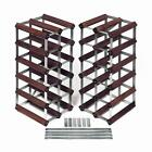 RTA 30+ Bottle Traditional Wooden Wine Rack 6-in-1 Flexi System Extendable Rack