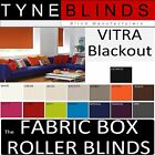 The FABRIC BOX - VITRA BLACKOUT made to measure ROLLER BLINDS - straight edge