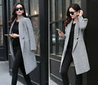 2015 NEW Women  Spring Lady Fashion Korea Slim Good Wool Blend Long Jacket