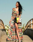 Women Chiffon Long Sleeve Boho Gypsy Hippie Maxi Cardigan Shirt Dress Hot Sale