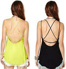 Girl's HOT Loose Casual Loose Sexy Sleeveless Strap Vest T-shirt Tank Top Blouse
