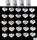 Heart Shaped Clip on Charm for Bracelets Bags Tibetan Silver Double Sided Mum