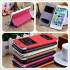 Maze Pattern Double Window Flip PU Leather Cover Case for iPhone 6 iPhone 6S