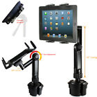 LONG ARM Car Cup Holder TRIPOD Mount FOR APPLE iPad 2 3 4 AIR SURFACE PRO TABLET