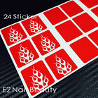 Fire Flame Nail Stencils Guide Vinyl Decal Sticker FREE SHIPPING x 24