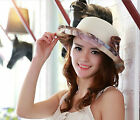 Elegant Women' Beach Sun Hats Brim Summer Straw Floppy Graceful Bohemia Cap C
