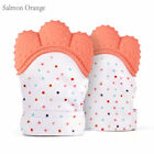 Silicone Baby Mitts Teething Mitten Teething Glove Candy Wrapper Sound Teether 1