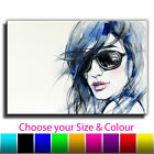 Abstract Woman Single Canvas Wall Art Picture Print 3O
