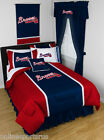 Atlanta Braves Comforter Sham and Valance Twin Full Queen King Size