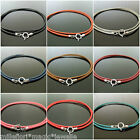 "1.5mm Leather & 925 Sterling Silver Necklace 20"" (51cm) ~ Choose Your Colour"