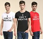 I CAN'T BREATHE 100% Cotton Short sleeve Tee T-shirt Round Neck Summer LP18F01