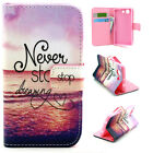 Neve Stop Dream wallet Card Holder Leather Case Stand Cover for Various phone YH