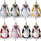 Half sleeve Cosplay Costume Ruffle Maid Outfits Sexy Servant Party Dress Apron