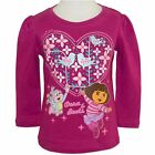 NICKELODEON DORA Girls Pink Long Sleeved Top Size 2, 3, 4, 6 Years