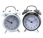 "New 4"" Twin Double Bell Table Alarm Clock Classic Vintage Modern Simple Style"