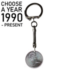 30TH BIRTHDAY (2015) GIFT 1987 LUCKY PENNY COIN & 30 CHARM KEYRING SPLIT RING