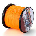 100M/300M/500M/1000M Orange 6-300LB Dyneema 100%PE Braid Fishing Line