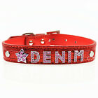 Cat Dog Puppy Pet Snakeskin Personalized DIY Collars Free Name/Charm XS,S,M,L