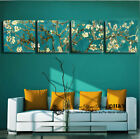 Set Of 4 Almond Blossom Stretched Canvas Prints Framed Wall Art Decor Painting