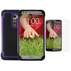 Rubber Plastic PC ShockProof Dirt Dust Proof Matte Hard Case Cover For LG Phone