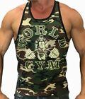 World Gym Ringer Camo Tank Top- New