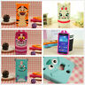 Cute 3D Classic Cartoon Animal Silicone Rubber Back Cover Case for Mobile Phones