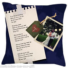Lyrics Cushion - Ur Song on a cushion | Poem | Add Photo | Add Text | Gift