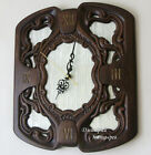 Wall clock decoration interior design luxe wooden carved glass quartz home decor