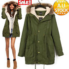 Mode Jacket Coat Overcoat Casual Slim Fit Trench Parka Winter Warm