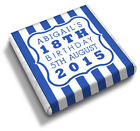 Personalised STRIPES 16th 18th 21st 30th 40th Birthday Party Favour Chocolates