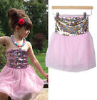 Cute Baby Girls Kids Princess Party Sequins Tulle Tutu Gown Formal Dresses Skirt