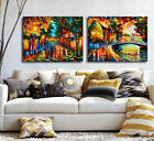 Way Home Set of 2 Abstract Stretched Canvas Print Framed Wall Art Decor Painting