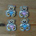 4 - Iron on - Baby Bear - Baby/Kids - Embroidered Patch - Applique - Cards