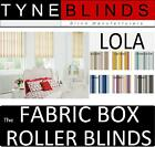 ROLLER BLINDS straight bottom edge - The FABRIC BOX - LOLA made to measure