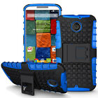 Motorola Moto X2 Dual Layer Shockproof Cover Hybrid Rugged Case with Kickstand