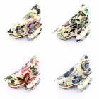 LARGE FLORAL FLOWER VINTAGE HAIR CLIP CLAW GRIP CLAW CLAMP BUTTERFLY CLAMP (MF)