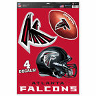 "NFL Football Multi-Use Decal Removable Reusable 4-Decals 11""x17"" - Pick Team"
