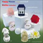 Golf Ball Dog Happy House Malibu Jewelry Gift Box for Ring Earring Pin Brooch ..