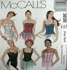 Timeless!  McCALLS SEWING PATTERN Corset Bodice Bustier Top 3636