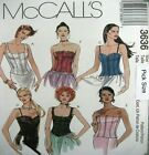 McCalls Sewing Pattern 3636 Corset Bodice Bustier Strapless Top Choose Size