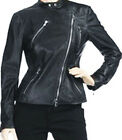 Motorcycle Leather Black Jacket For Women Sz XS-3XL or Custom Made