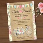Personalised Wedding Day Invitations & Envelopes *Tandem Bike Bunting
