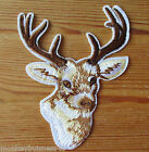 1 - Iron on Patch - Deer/Stags Head - Hunting - Nature/Scouts -  Applique/Cards