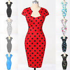 SUMMER Wiggle 50s Vintage Style Pinup Swing Housewife Party Dress NEW