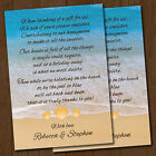 Personalised Beach Wedding Honeymoon Gift Money Poem Cards *Seaside