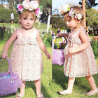 Kids Girls Princess Lace Flower Tutu Dress Party Formal Pageant Skirt For 1-7Y