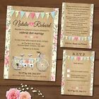 Package Deal: Wedding Invitation, RSVP Card & Gift Poem Card *Bike Bunting