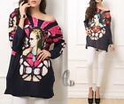 AU SELLER Women's Knitted Loose Pullover Casual Sweater Jumper Blouse Top T143