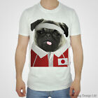 Japan Rugby Tshirt Pug T-shirt Japanese World Cup Sport Pugs 2015 Top Red Sun T