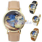 Mens Women Westeros The Sunset Kingdoms Map PU Leather Analog Quartz Wrist Watch